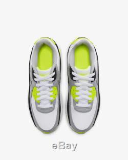 Nike Air Max 90 LTR White Light Smoke Grey Volt Kids Boys Girls Trainers