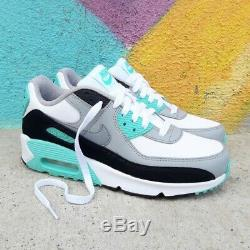 Nike Air Max 90 Leather GS Particle Grey Teal Shoes Trainers