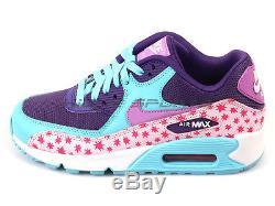 Nike Air Max 90 PREM Mesh (GS) Prism Pink/Blue-Fuchsia Glow 724875-600 Stars