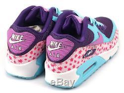 Nike Air Max 90 PREM Mesh GS Stars Prism Pink/Pool Blue-Fuchsia Glow 724875-600