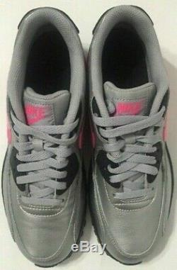 Nike Air Max 90 Running GS Shoes Silver Pink Youth 833376-004 Size 7Y