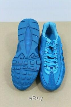 Nike Air Max 95 QS GS Casual Running Shoes Grn Abyss/Blu Fury AH3808-300 Size 4Y