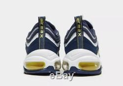 Nike Air Max 97 OG Blue Yellow White Kids Boys Girls Trainers All Sizes