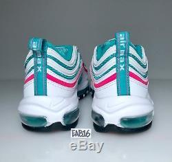 Nike Air Max 97 South Beach White Pink Blast Kinetic Green Boys Girls Kids GS