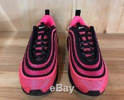 Nike Air Max 97 Ul 17 Black Racer Pink Running Girls Kids Gs Sz 4-5 Y 917999-001