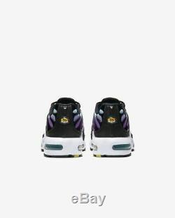Nike Air Max Plus Green Hyper Violet Metallic Grey Black Kids Boys Girls Shoes