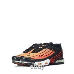Nike Air Max Plus III 3 Tuned Junior Trainers Shoes Black, Orange