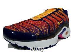 Nike Air Max Plus TN Back To School Running Shoes Sz 7 Y Multi-Color CI9932-500