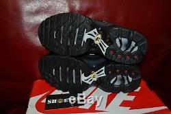 Nike Air Max Plus Triple Black Gs Girls Boys Kids Women's Us Uk Sz 4y 8.5w