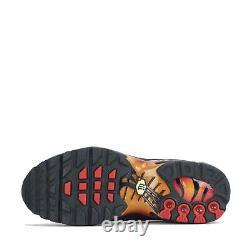 Nike Air Max Plus Tuned Junior Trainers Shoes Black Orange