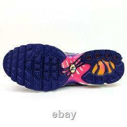 Nike Air Max Plus Youth 7Y Womens Size 8.5 Purple Orange Running Shoes CI9932-50