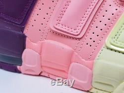 Nike Air More Uptempo Citron Pink Purple GS Sz 5.5Y Girls Kids Women AV8237-800