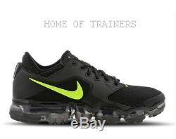 Nike Air Vapormax Black Black Volt Kids Boys Girls Trainers All Sizes