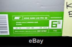 Nike Dunk Low Pro Sb Hemp Cascade Blue Size 6.5 Gs Girls New Ds 420 Supreme Kids