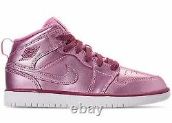 Nike Girl's Air Jordan 1 Mid Pink Sz 4.5y AV5173-640 Basketball Shoes
