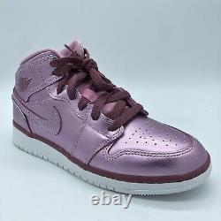 Nike Girl's Air Jordan 1 Mid Pink Sz 5y Youth AV5174-640 Basketball Shoes New