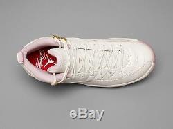 Nike Girls Air Jordan 12 Retro Heiress Plum Fog White Gold Sz 4Y-9.5Y GS Kids DS