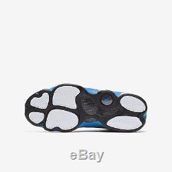 Nike Girls Air Jordan 13 Retro GS 439358-107 Kids Casual White/Italy Blue-Grey