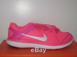 Nike Girls' Flex 2016 Run Athletic Shoes Sz. 3Y 834282-600