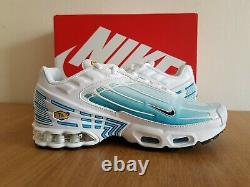 Nike Girls Womens Air Max Plus 3 Shoes White/Laser Blue CD6871-101 UK 4 to 6