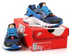 Nike Huarache Run Print (GS) Metallic Hematite/Gold-Blue Kids Running 704943-004