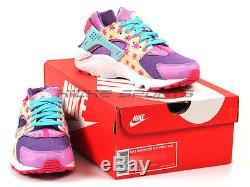 Nike Huarache Run Print (GS) Prism Pink/Blue-Fuchsia Glow 704946-600 Kids Stars