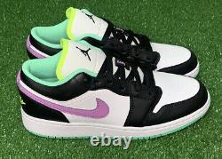 Nike Jordan 1 Low Violet Shock GS 553560-151 Size 6-6.5Y/Womens Size 7.5-8 Shoe