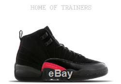 Nike Jordan 12 Retro Black Dark Grey Rush Pink Kids Boys Girls Trainers All Size