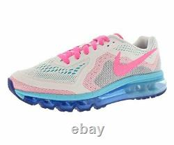 Nike Kid's Air Max 2014 (GS) White/Pink/Blue Sz 6.5Y 631331-100 Fashion Shoe