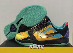 Nike Kobe 5 GS Prelude Gold Glow Dark 386647 700 Youth Kid Girl Boy Sz 6.5Y Shoe