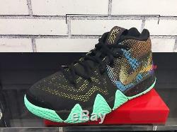 Nike Kyrie 4 Mamba Mentality Black Yellow Purple GS PS Kid Boys Girls Sz 11C-7Y