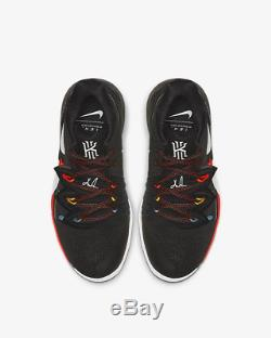 Nike Kyrie 5 Black Bright Crimson Amarillo White Kids Boys Girls Trainers