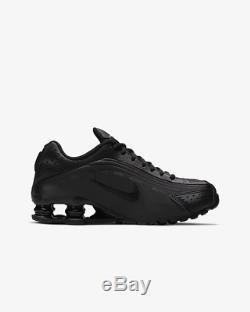 Nike Shox R4 Black Black White Black For Kids Boys Girls Trainers