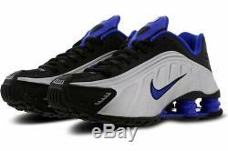 Nike Shox R4 Black Blue Silver Big Kids Boys Girls UK 3 US 3.5Y EU 35.5 SAMPLE