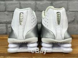 Nike Shox R4 Uk 5 Eu 38 White Silver Trainers Ladies Childrens Girls Rrp £130 T