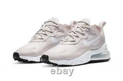 Nike Women's Air Max 270 React Barley Rose Shoes CT1287 600 Multiple Sizes