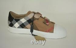 Nwt Burberry Childrens Kids Boy Girl Check Trainer Sneakers Shoes