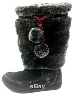 One Left Shoe Only Kids Girls Sz 1.5 Timberland Leather Amputee Pom Pom Boot Euc