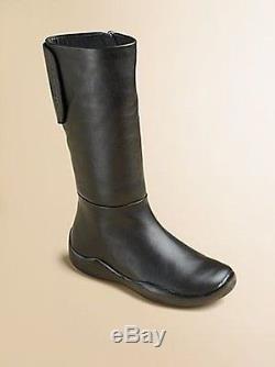 Prada Girl's Logo Tab Sport Zipper Flat Boots Eu 25 Toddler Eu 29 Kids