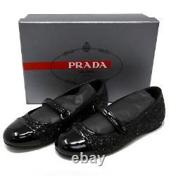 Prada Kids Slip On Glitter Ballet Shoes Size 29 US 11.5