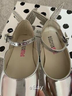 Pre-owned Girls Beautiful Mini Sophia Webster Chiara Butterfly Shoes, Size 9.5