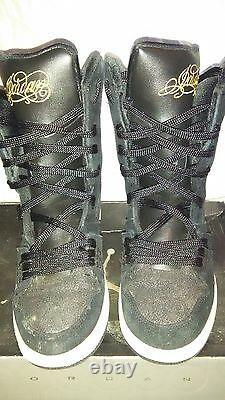 RARE! Girls Nike Jordan Flight 23 6 IN GS 331944-072 Size 6Y Black HighTop Shoes
