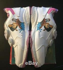 RARE Vintage pocahontas disney sneakers Shoes Size 2 Kids Girls White NEW
