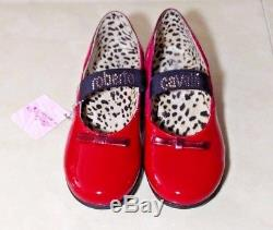 ROBERTO CAVALLI Brand New $180 Girls Kids Youth Winter Shoes Red Ballerinas 2017