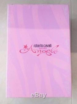ROBERTO CAVALLI New $240 GOLD Girls Baby Kids Shoes Glamour Ballerinas Size 24EU