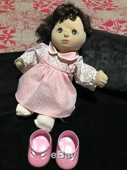 Rare My Child Doll Girl Brown Eyes And Hair Mattel 1985 Pink Dress Socks Shoes