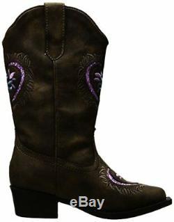 Roper Girls Daisy Heart Western Boot- Pick SZ/Color