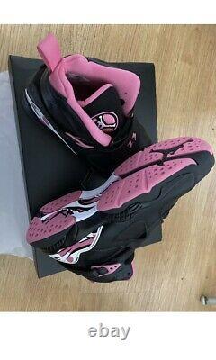 SHIPS ASAP- Girls' Big Kids' Air Jordan Retro 8 Basketball Shoes Black/White