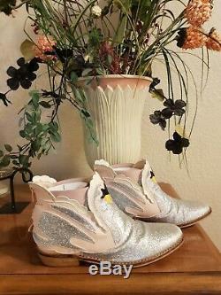 STELLA MCCARTENY KIDS Girls Glitter Lily Swan Boots Size EU 34 US 2.5