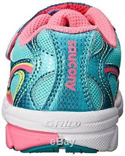 Saucony Girls Baby Ride Sneaker Little Kid/Toddler, Turquoise/Pink/Citron, 10 W